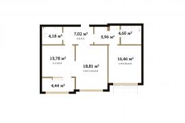 Продажа 2-х комнатной квартиры без отделки 74 кв.м на 11 этаже в ЖК RedSide, 2-я Черногрязская улица, 6к3