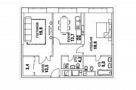 Продажа 3-х комнатной квартиры без отделки 84 кв.м на 14 этаже в ЖК Суббота, Москва, Верхняя улица, 20к1