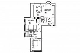 Продажа 3-х комнатной квартиры без отделки 96.6 кв.м на 3 этаже в ЖК Суббота, Москва, Верхняя улица, 20к1