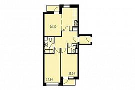 Продажа 3-х комнатной квартиры без отделки 91 кв.м на 15 этаже в ЖК City Park (Сити Парк), Мантулинская улица, 9к2